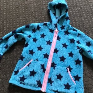 Hanna Andersson marshmallow zippered hoodie